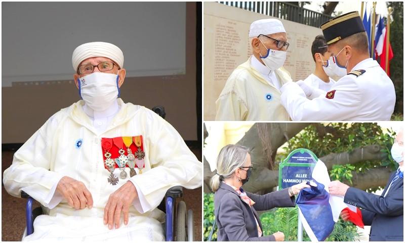 فرنسا تكرم أكبر محارب مغربي (103 سنة) وتخلد اسمه داخل قنصليتها بكازا