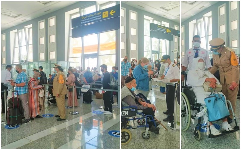 أولى صور وصول مغاربة العالم لمطار فاس سايس بعد فتح الأجواء