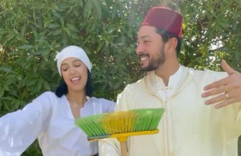 منال بنشليخة وزوجها يطلان بلوك 'العروبية والفاسي' في أجواء العيد