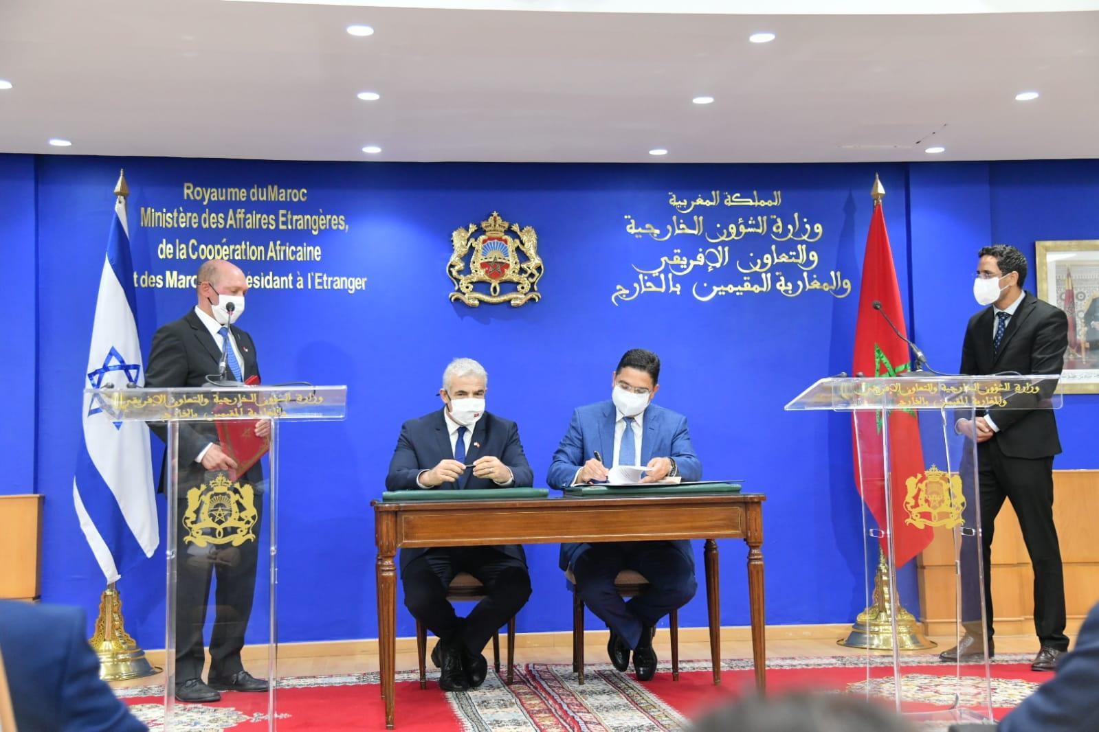 بوريطة ولابيد يوقعان اتفاقيات للتعاون الثنائي بين المغرب وإسرائيل