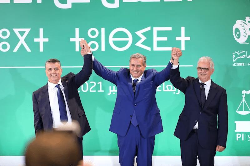 رسمياً | رئيس الحكومة المعين أخنوش يعلن عن تركيبة التحالف الحكومي