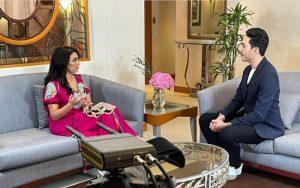 فهد الهاشمي في التقديم التلفزي مع الممثلة فرح الفاسي