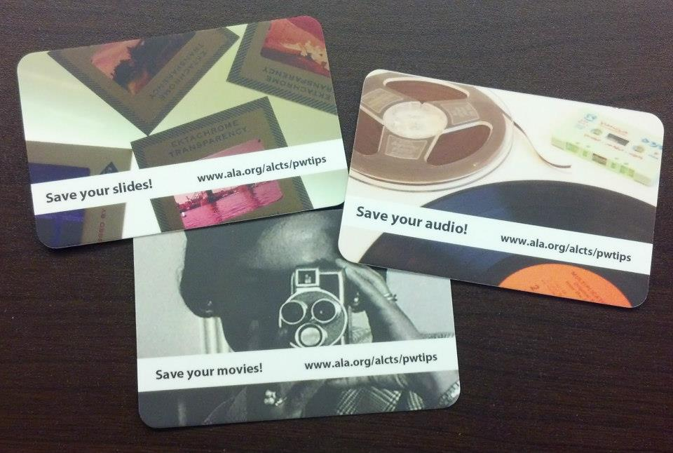 photo of preservation tip cards
