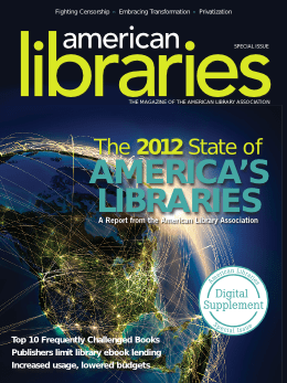 Cover: state of america's libraries report 2012 digital supplement