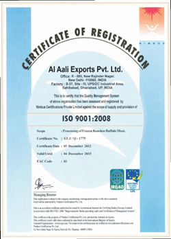 Meat Exporters certification