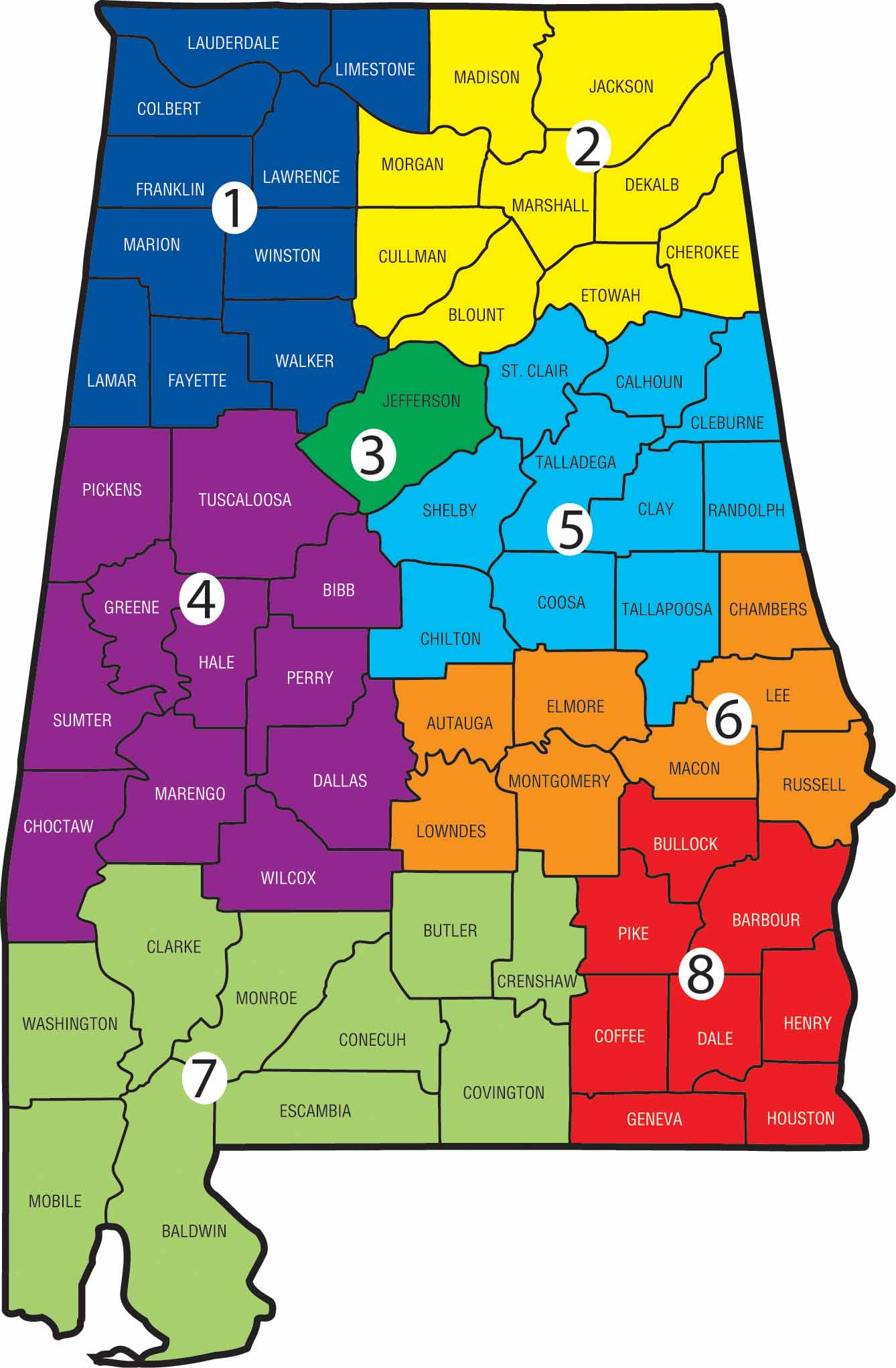 Alabama County School Districts