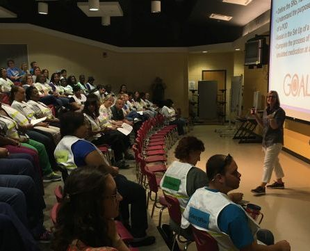 Police, fire and public health officials in Jefferson County participated in the exercise. (Brittany Faush-Johnson/Alabama NewsCenter)