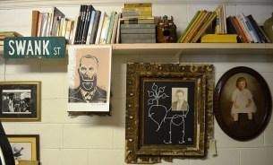 Anthony's work on display at Possum Trot. (Anne Kristoff/Alabama NewsCenter)