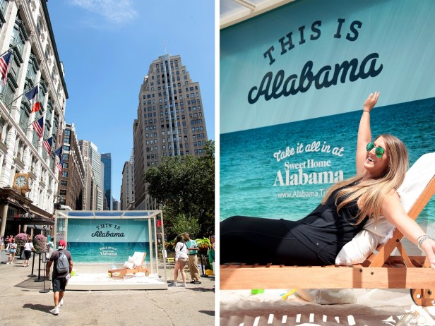 Alabama's Department of Tourism brought the sugar sand beaches of the Yellowhammer State to the Big Apple. (contributed)