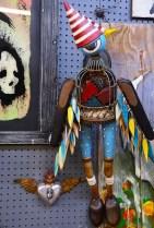 Chris Cumbie's carved figures are whimsical, distinctive, charming and sometimes a little creepy. (Karim Shamsi-Basha/Alabama NewsCenter)