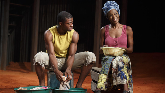 """UA alum Michael Luwoye performs off-Broadway with Adeola Role in """"Invisible Thread."""" Luwoye also has starred in """"Hamilton"""" on Broadway. (Joan Marcus)"""