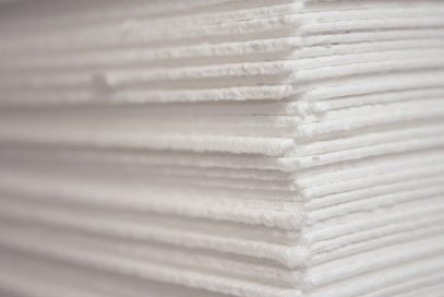 The Lenzing Alabama plant produces Tencel fiber from pulp sheets. (Markus Renner / Electric Arts)