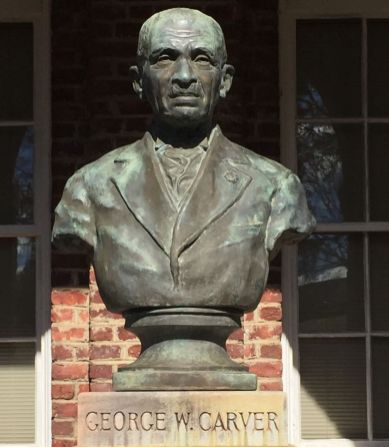 A bust of Carver at the museum. (Donna Cope/Alabama NewsCenter)