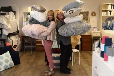 Alison Gorrie, left, and Kate Phillips have made Dorm Decor a national business. (Karim Shamsi-Basha / Alabama NewsCenter)
