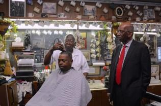 "Linton's Barber Shop provided shelter for civil rights demonstrators on ""Bloody Tuesday"" in June 1964. (Karim Shamsi-Basha/Alabama NewsCenter)"