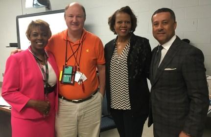 Jackson-Olin teacher David Pettit, second from left, is a Fusion NextGen finalist. (Brittany Faush-Johnson/Alabama NewsCenter)
