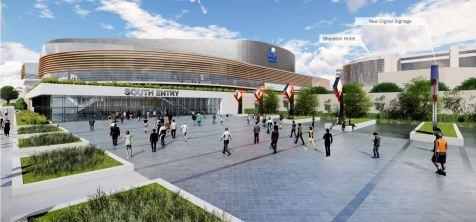 Proposed renovations to the BJCC's southern entrance. (Populous)