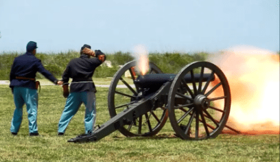 Fort Morgan Salute to American Independence. (Contributed)