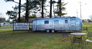 An Airstream trailer was among the amenities at Muscle Shoals Sound. (Anne Kristoff/Alabama NewsCenter)