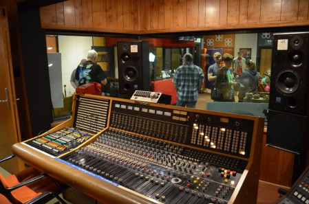 The view from the mixing board. Tourists now stand where the Rolling Stones, Rod Stewart and Bob Seger once made sweet music. (Anne Kristoff/Alabama NewsCenter)