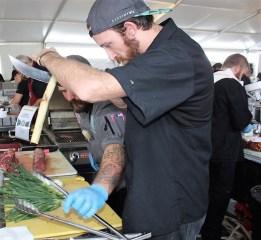 Competitors prep their ingredients at the World Food Championships in Orange Beach. (Robert DeWitt / Alabama NewsCenter)