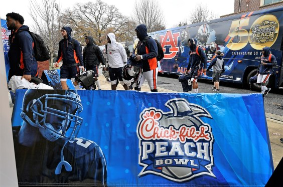 Auburn arrives for its first bowl practice in Atlanta on Wednesday. (Todd Van Emst/AU Athletics)
