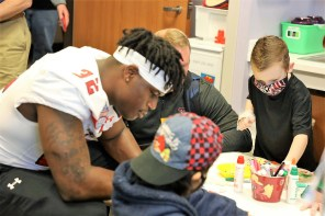 Coaches and players from Texas Tech and South Florida visited Children's of Alabama as part of their time in the Magic City for the Birmingham Bowl. (Birmingham Bowl)