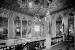 Mezzanine level of the Alabama Theatre, Birmingham. (HABS, Library of Congress Prints and Photographs Division)