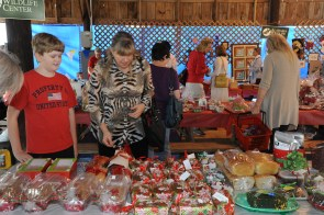 Shoppers enjoy the delicious selection of cakes, pies, and breads at the Holiday Craft and Bake Sale. (Contributed)