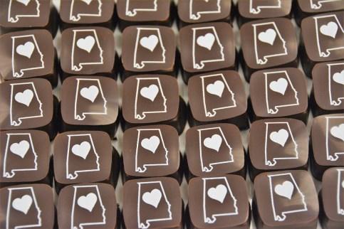A few of the pieces of art for chocolate. (Karim Shamsi-Basha / Alabama NewsCenter)