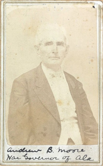 "Andrew B. Moore, ""War governor of Ala."" (Library of Congress Prints and Photographs Division)"