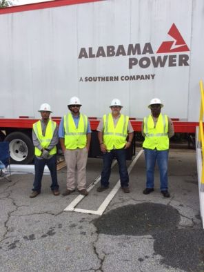 Alabama Power crew at staging area for Hurricane Irma restoration efforts. (Alabama NewsCenter/file)