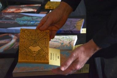 David Nuttall holds one of his Artimaps. (Karim Shamsi-Basha / Alabama NewsCenter)