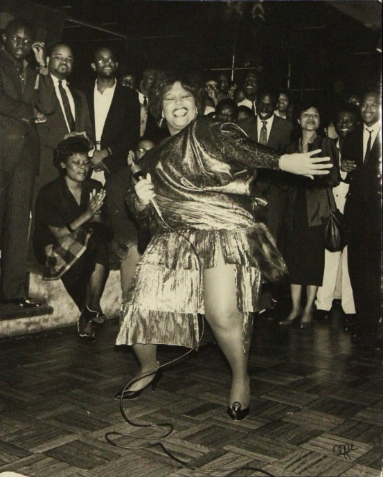 """A gelatin silver print of Cheryl Lynn by David """"Oggi"""" Ogburn is part of the Paul R. Jones Museum's """"All That Art! All That Jazz!"""" exhibit opening Wednesday, (University of Alabama Department of Art and Art History)"""