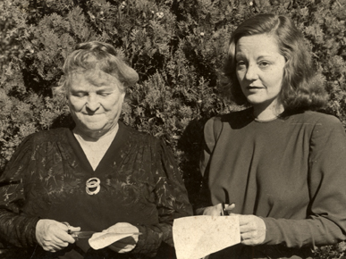 Senator John H. Bankhead's daughter, Marie Bankhead Owen, and granddaughter, Tallulah Bankhead. Marie headed the Alabama Department of Archives and History for 35 years. Tallulah was an internationally renowned star of the stage and screen who spoke against racial injustice and inequality. (From Encyclopedia of Alabama, courtesy of Alabama Department of Archives and History)