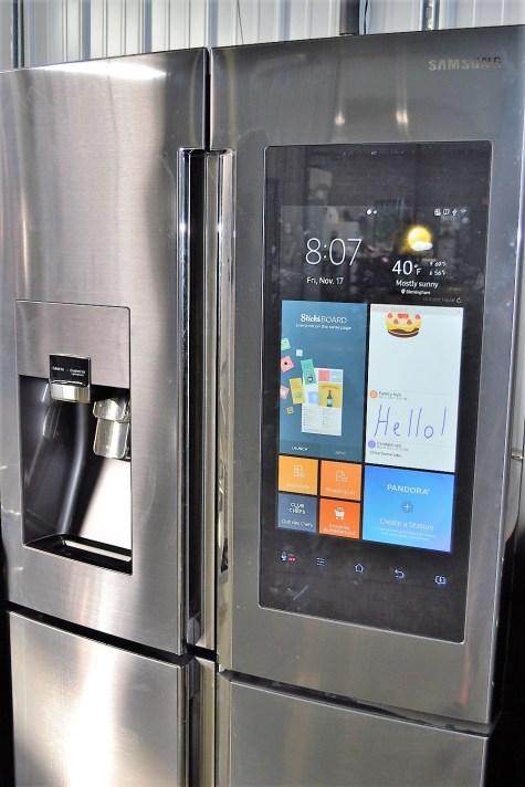 A Samsung smarthub refrigerator is among the appliances found in Smart Neighborhood homes. (Katie Bolton / Alabama NewsCenter)