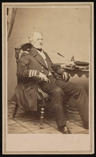 Admiral Franklin Buchanan of the Confederate Navy. Buchanan served on CSS Virginia and CSS Tennessee during the Civil War. (Brady's National Portrait Gallery, Library of Congress Prints and Photographs Division)