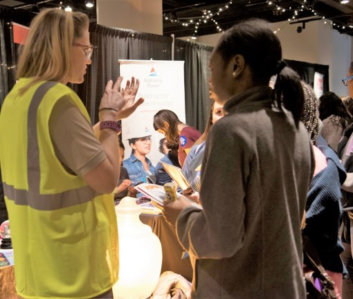 Alabama Power was among the participants in Girls in Engineering Day at McWane Science Center. (Brittany Faush / Alabama NewsCenter)