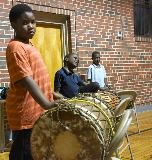 African-style drumming is an important part of the Sounds of Authority music. (Solomon Crenshaw Jr. / Alabama NewsCenter)
