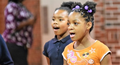The young singers in Sounds of Authority not only learned African-American spirituals; they learned the story behind the tradition. (Solomon Crenshaw Jr. / Alabama NewsCenter)