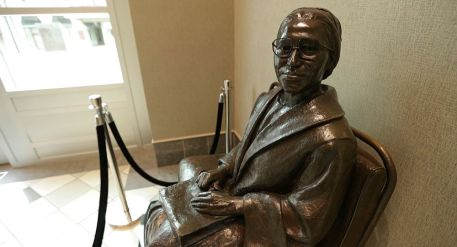 Statue of Rosa Parks inside Troy University's Rosa Parks Museum in Montgomery. (Bruce Nix/Alabama NewsCenter)