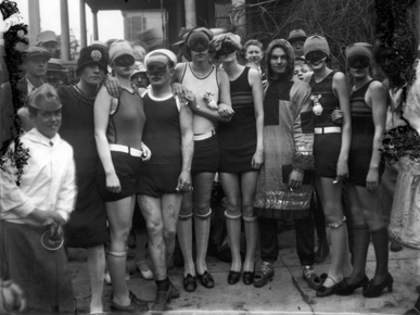 Masked for a Mardi Gras event during the 1930s. Who these people were is unknown, but they surely must have been some of Mobile's more colorful citizens. (From Encyclopedia of Alabama, courtesy of the Doy Leale McCall Rare Book and Manuscript Library)