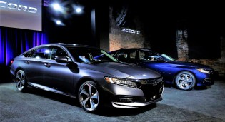 The 2018 Honda Accord was named North American Car of the Year at the recent North American International Auto Show. (Jeff Kowalsky / Bloomberg)