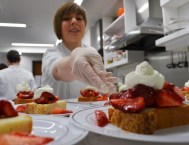 Time Inc. Food Studios chefs served desserts. (Michael Tomberlin / Alabama NewsCenter)