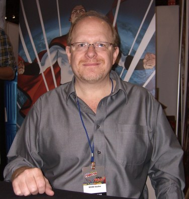 Mark Waid at the New York Comic Convention, 2010. (Photo by Luigi Novi, Nightscream, Wikipedia)