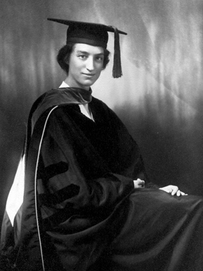 Dorrit Hoffleit earned her Ph.D. in astronomy in 1938 from Radcliffe College (now part of Harvard University) in Cambridge, Massachusetts. (From Encyclopedia of Alabama, courtesy of the American Association of Variable Star Observers)