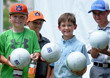 Armed with Sharpies, kids -- and adults -- clamored for autographs at the Regions Pro Am. (Solomon Crenshaw/Alabama NewsCenter)