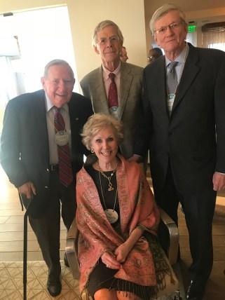 Barbara Larson with Scotty McCallum, Jim Hughey and Mike Goodrich. (contributed)