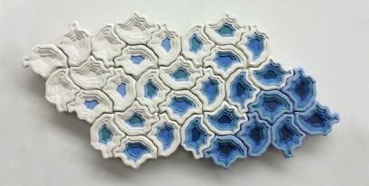 Tectonic tiles by Lana Hobbs. (Thrive Clay Studio)