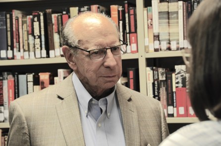Joel Rotenstreich at the Birmingham Holocaust Education Center, a place to which he has devoted a great deal of time and passion. (Karim Shamsi-Basha/Alabama NewsCenter)